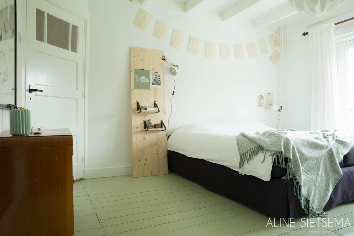 Slaapkamer groen en natuurlijk – Aline Sietsema