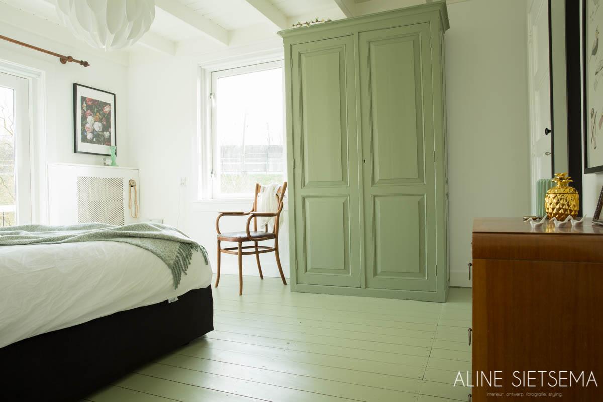 Slaapkamer Kleur Groen : Slaapkamer groen en natuurlijk u aline sietsema